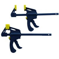 Toolzone 2pc Mini Quick Ratcheting Bar Clamp & Spreader