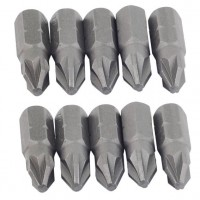 Rolson 10pc 25mm PZ2 Power Bit Set