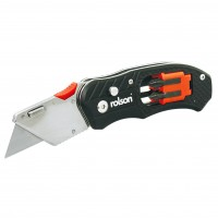 Rolson Folding Utility Knife with Screwdriver and Bits