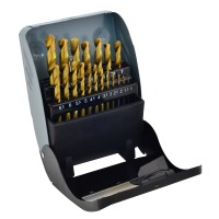 Rolson 19pc Titanium Coated HSS Drill Bit Set
