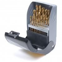 Rolson 25pc Titanium Coated HSS Drill Bit Set