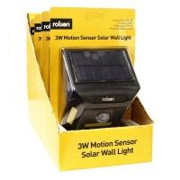 3W Motion Sensor Solar Wall Light