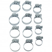 Rolson 12pc Hose Clamp Assortment