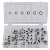 Rolson 100pc Locknut Assortment