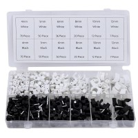 Rolson 390pc Cable Clip Assortment