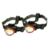 Rolson 2pc 3W COB Head Lamp