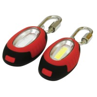 Rolson 2pc 0.5W COB Light with Carabiner
