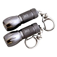 Rolson 2pc LED Mini Alumium Key Ring Torch