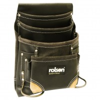 Rolson 10 Pocket Single Oil Tanned Leather Tool Pouch