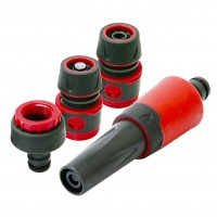 Rolson 4pc Garden Hose Connector Set