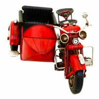 Kreatif Kraft Motorcycle and Sidecar Hand Painted Model