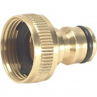Green Jem Hose End - Brass Tap Connector