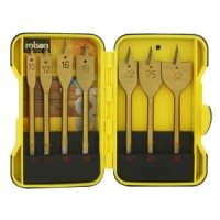 Rolson 7pc Flat Wood Bit Set