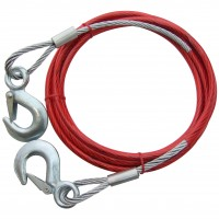 Am-Tech Steel Tow Rope 10mm x 4m
