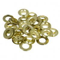Toolzone 20pc Brass Coated Steel Grommets