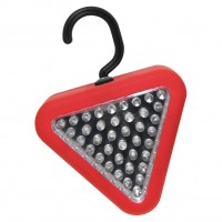 39 LED Triangle Red & White Flash/Light