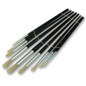 Toolzone 9pc Round Artist Brushes