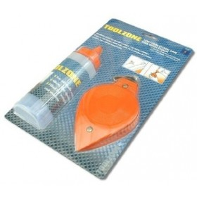 Toolzone 30m Metal Chalkline and 4oz Chalk