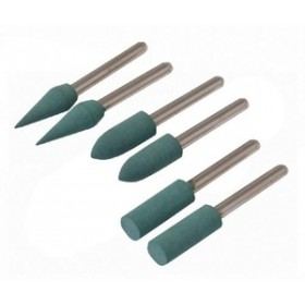 Silverline 6pc Rubber Polishing Tips