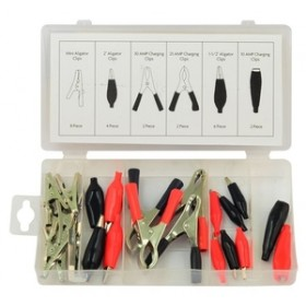 Rolson 24pc Electrical Clip Assortment