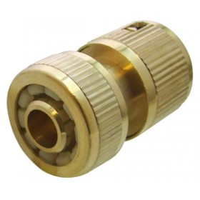 Am-Tech Female Water Stop Brass Hose Fitting