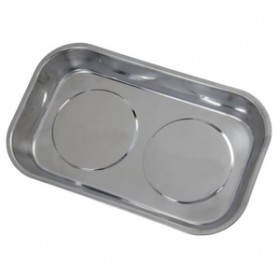 Toolzone Magnetic Tray Stainless Steel 14cm x 23cm