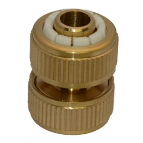 Green Jem Hose End - Brass Hose Repair Connector