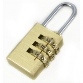 Toolzone 20mm Brass Combination Padlock