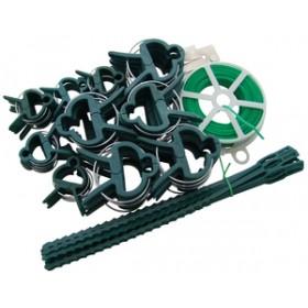 Am-Tech 61pc Garden Wire and Clip Set
