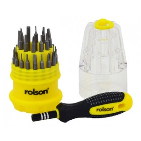 Rolson 30pc Precision Screwdriver Set