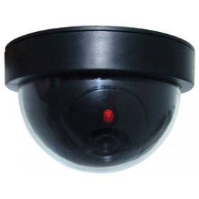 Am-Tech Dummy Dome Shaped Security Camera with Flashing LED