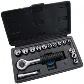 Am-Tech 16pc 1/4Inch Drive Socket Set