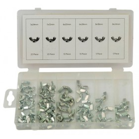 Rolson 70pc Wing Nut Assortment