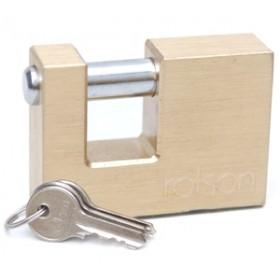 Rolson 60mm Square Brass Padlock
