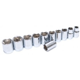 """Rolson 11pc 3/8"""" Dr Shallow Sockets"""