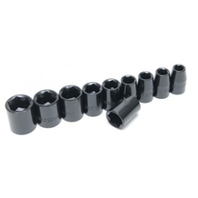 "Rolson 11pc 1/2"" Dr. Shallow Impact Sockets"