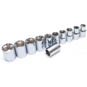 "Rolson 11pc 1/2"" Dr. Shallow Sockets"