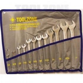 Toolzone 12pc AF Combination Spanner Set CV