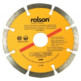 Rolson Dry Cut Segmented Diamond Tipped Blade