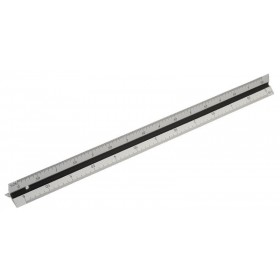 Rolson 300mm Aluminium Triangle Scale Rule