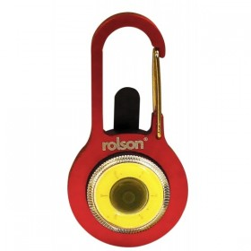 Rolson COB Light Carabiner Key Ring