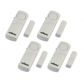 Rolson 4pc Wireless Door and Window Audible Alarm