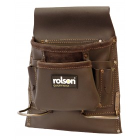 Rolson 8 Pocket Oil Tan Single Tool Pouch