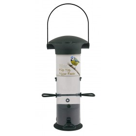 GREEN JEM NYGER FLIP TOP BIRD FEEDER