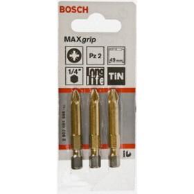 Bosch Bosch Maxgrip 3pc 49mm PZ2 Power Bits