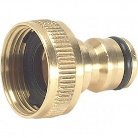 Green Jem Hose End - Brass Tap Connector