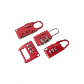 Am Tech 4pc Combination Padlocks