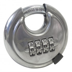 Am Tech 4 Digit 70mm Combination Disc Padlock