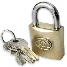Tri-Circle 50mm Brass Padlock