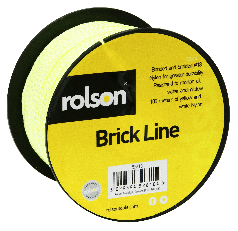 Rolson Brick Line 100 metres Braided
